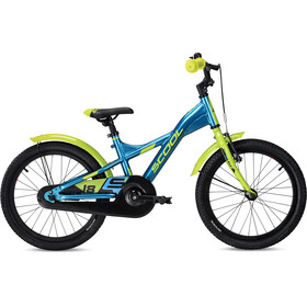 s'cool XXlite alloy 18 Enfant, blue/lemon metalic